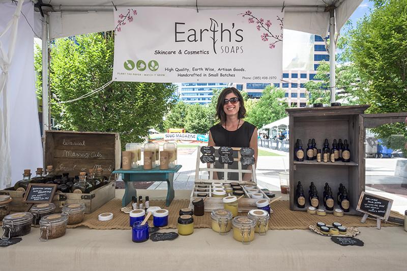 Earth's Soap's booth. Photo: @colton_marsala