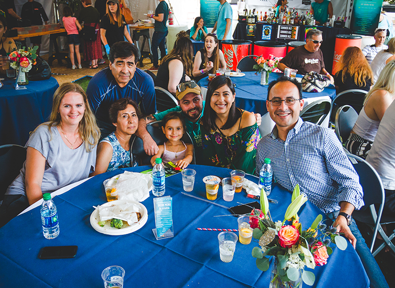 The CLC DIY Fest VIP booth brings together families to enjoy some good food, drink and stories about their favorite artist booths. Photo: @taylnshererphoto