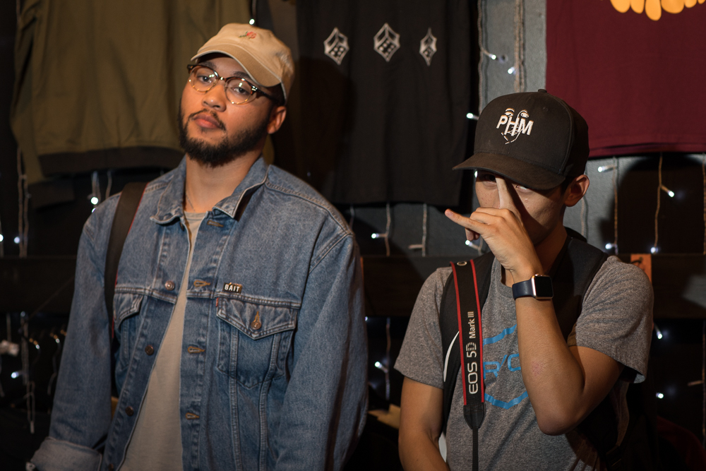 (L–R) Vince Perry and Bryan Chow came to shoot the musicians. Perry has his eye on DRUX, and Chow plans to shoot Benjamin Major. Photo: John Barkiple