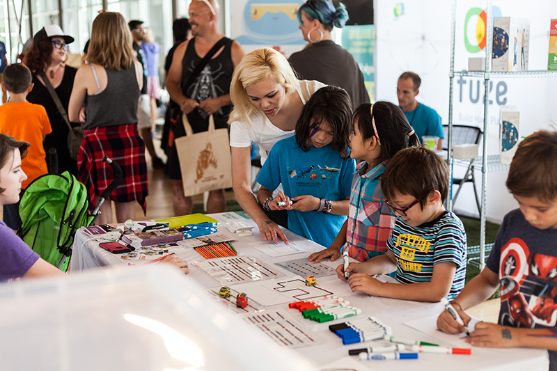 Fun science activities in the STEM building! Photo: Chris Gariety