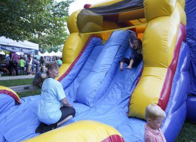 A fun, inflatable slide! Photo: @jaysonrossphoto