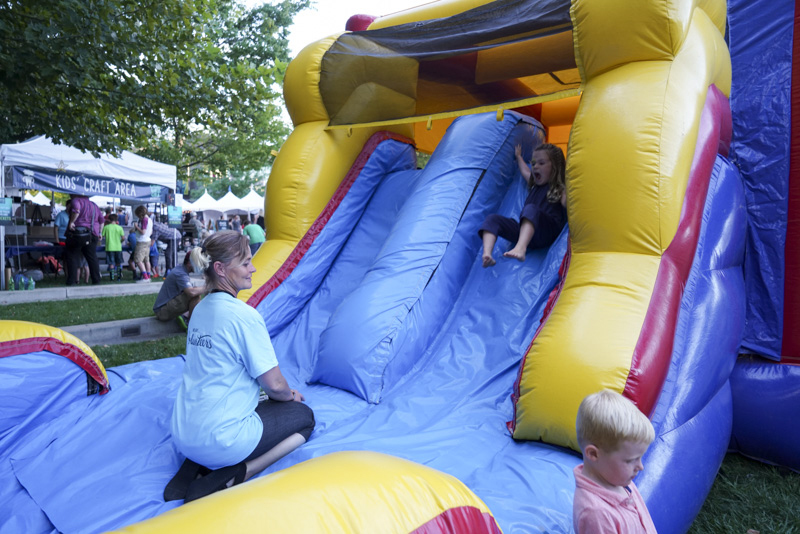 A fun, inflatable slide! Photo: @jaysonrossphoto