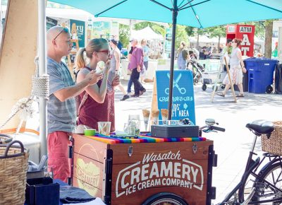 Wasatch Creamery cooling everyone off with the most delicious handcrafted ice cream. @cezaryna