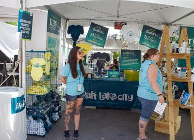Volunteers at the 9th Annual Craft Lake City DIY Festival holding it down and always ready to help. @cezaryna