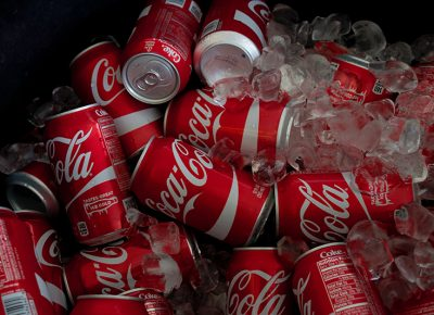 Coca Cola knows how to do it right—ice cold and bubbly. @cezaryna