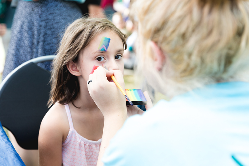 Face painting is all the rage in the Kids' Area at the DIY Festival. LmSorenson.net