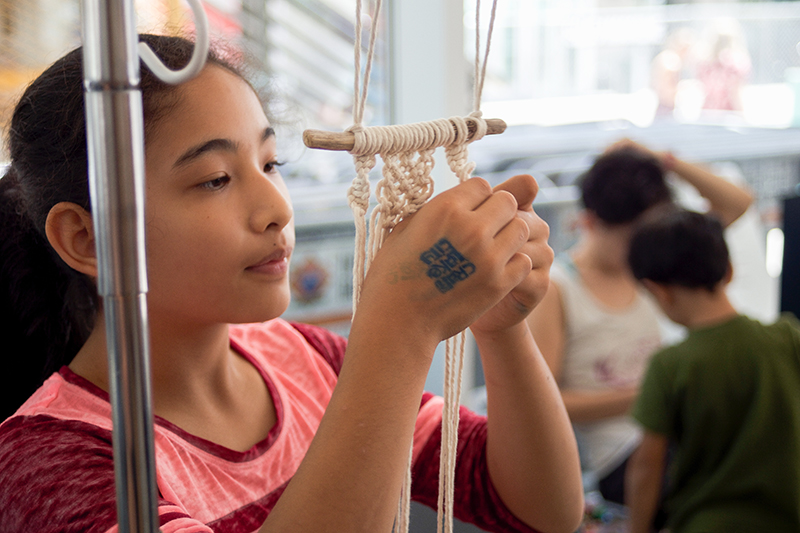 The 9th Annual Craft Lake City DIY Festival provided fun workshops for all ages—this one was Macrame-Making taught by Marti Wollford of Marti Makes in the West Elm Workshop Area. @cezaryna