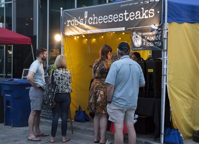 Patrons wait for their food from Rob's Cheesesteaks. Photo: @jbunds