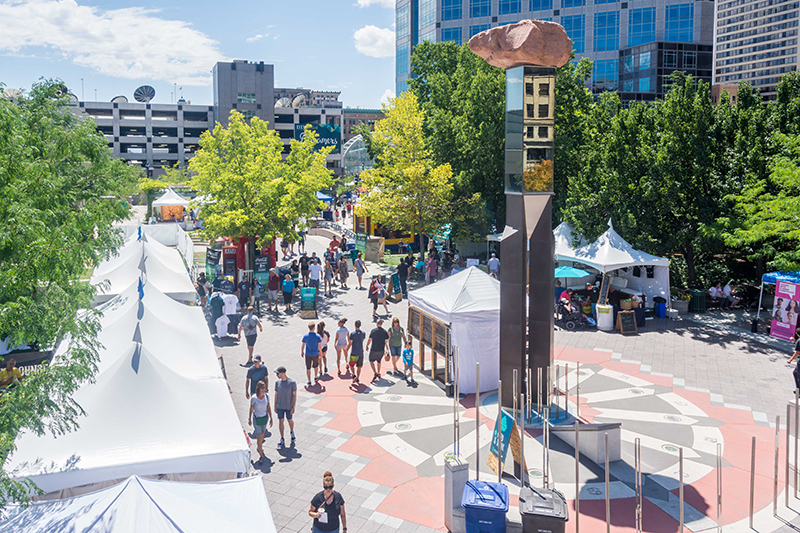 Tents filled the Gallivan Center with amazing local artists. Photo: @colton_marsala