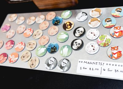 Magnets with artwork from Chris Bodily available for purchase. LmSorenson.net