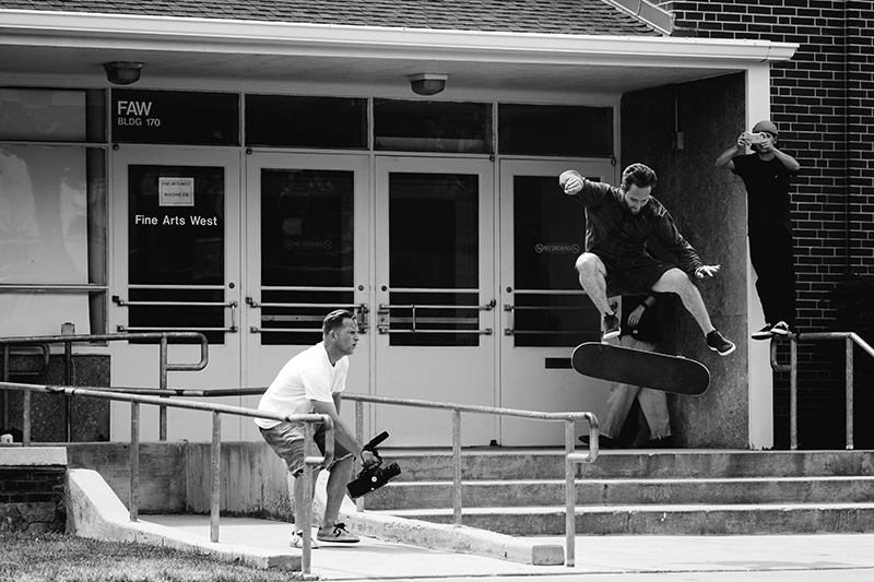 Matt Fisher, smith grind kickflip. Photo: Niels Jensen