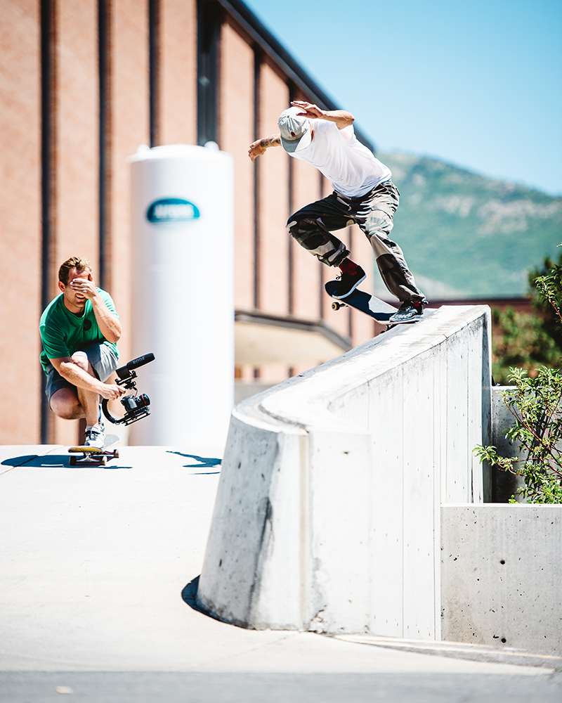 Shylio Sweat, crooked grind. Photo: Niels Jensen