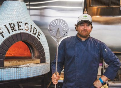 Pizza has long been a staple of Michael Richey's impressive culinary career. Photo: Talyn Sherer