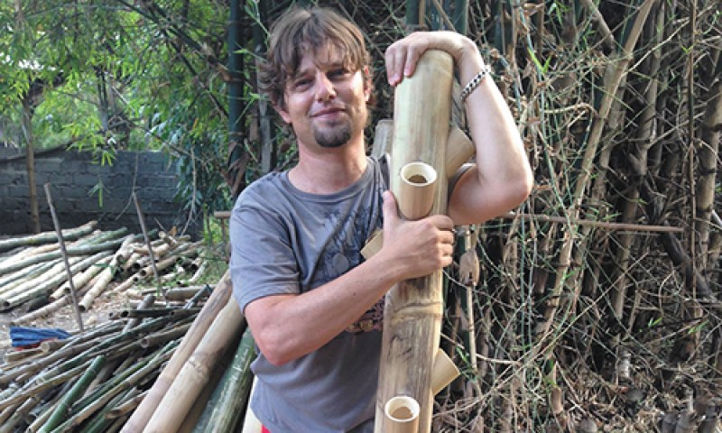 NaturePonics founder and creator Daniel Wagner aims for NaturePonics to help people become self-reliant by growing their own food sustainably. Photo courtesy of NaturePonics