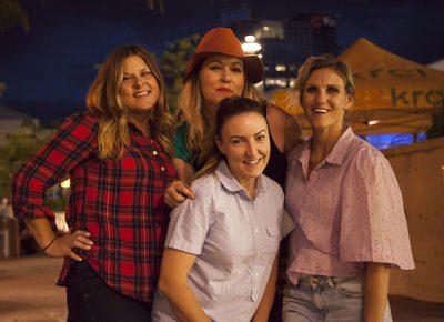 Four friends, including Craft Lake City Entertainment Coordinator Kellie Call, pose for the camera. Photo: @jbunds