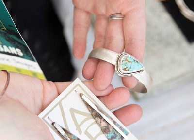 Bangles and earrings from Asia Raine Designs. LmSorenson.net