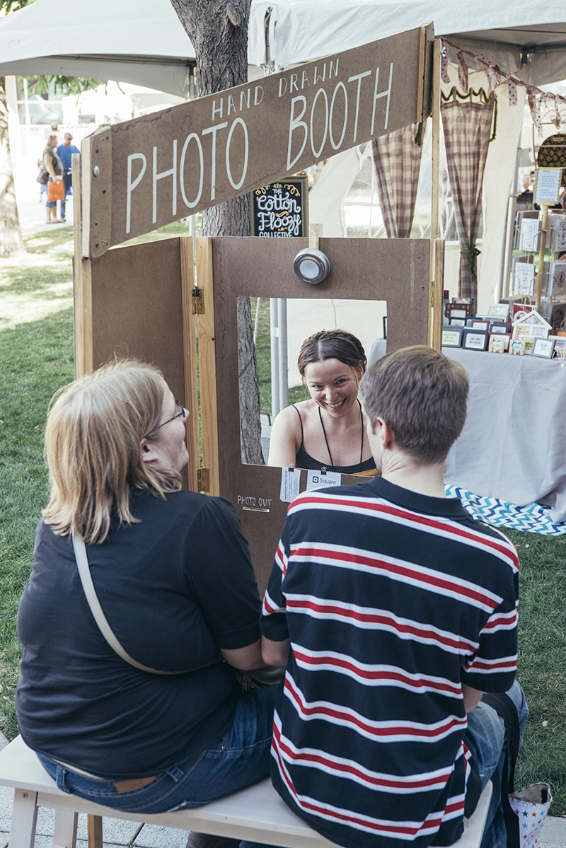All smiles at the Hand Drawn Photo Booth. Photo: @william.h.cannon