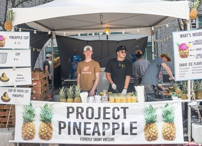 Project Pineapple serving delicious fruit drinks. Photo: @colton_marsala