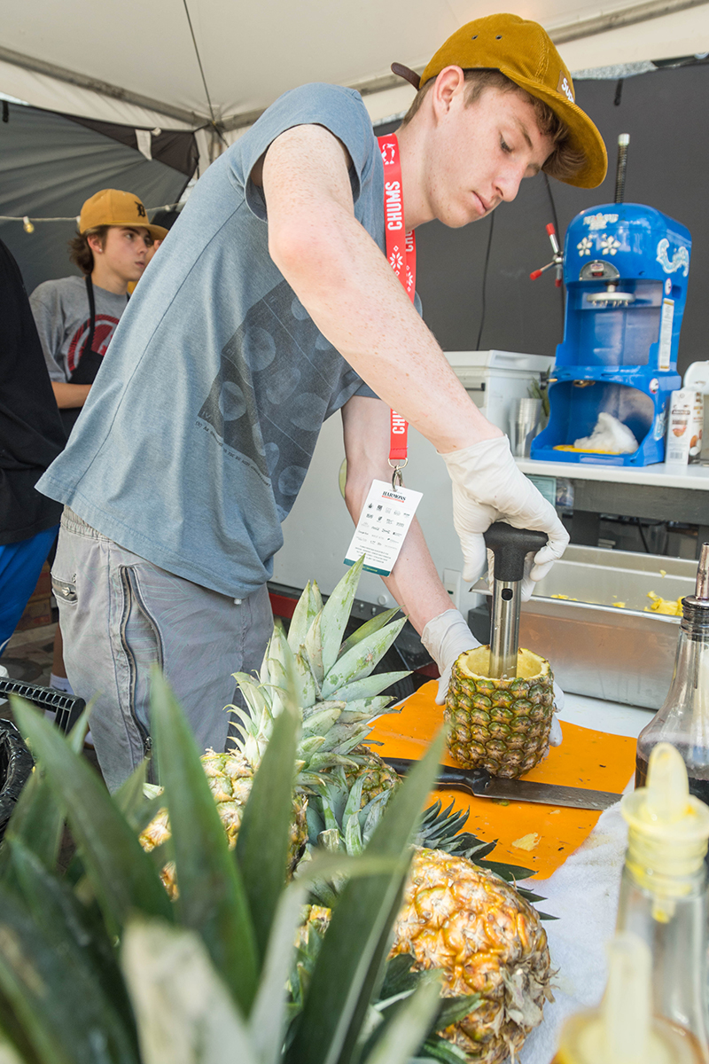 Project Pineapple getting ready for a busy festival day. Photo: @colton_marsala