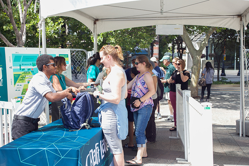 Crowds checking in before entering the 9th Annual Craft Lake City DIY Festival—safety first. @cezaryna