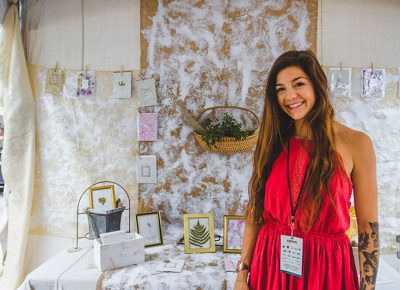 Lauren Rudin of Cardinal was enthusiastic about showing off her handmade paper art and cards. Photo: @taylnshererphoto