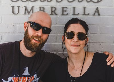 (L–R) Isabell's Umbrella owners and crafters Mat and Ashley Giessing are a must stop for any of your greeting card needs. Photo: @taylnshererphoto