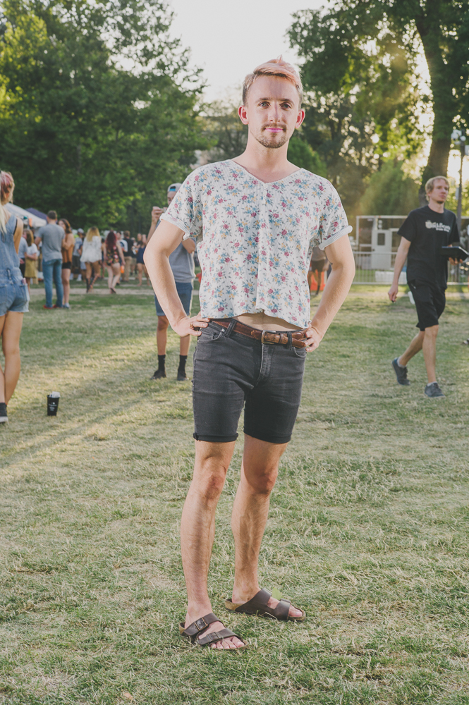 Levi Paul looked great in cutoffs and floral waffle shirt. Photo: @clancycoop