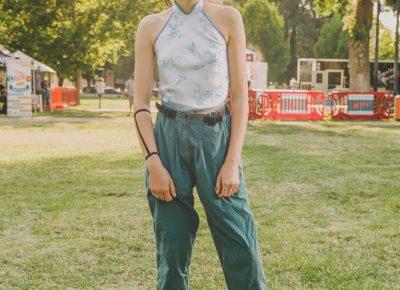 Allie Matthews' aqua top and pants looked excellent together. Photo: @clancycoop