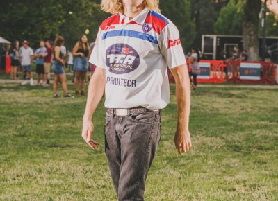 Boone Hogg in a vintage jersey. Photo: @clancycoop