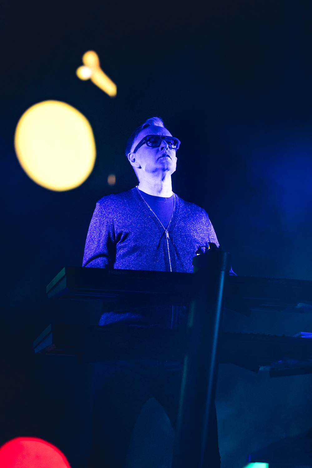Andy Fletcher stands with keyboards at hand. Photo: Lmsorenson.net
