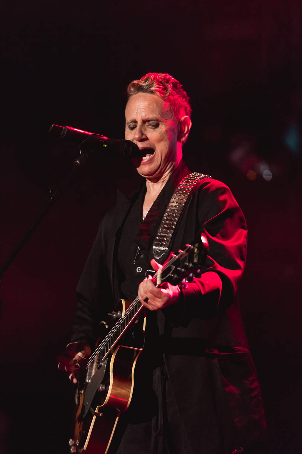 Martin Gore playing guitar for Depeche Mode in Salt Lake CIty. Photo: Lmsorenson.net