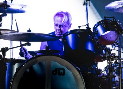 Drummer for Depeche Mode playing in Salt Lake City. Photo: Lmsorenson.net