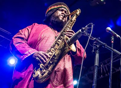Kamasi Washington, band leader and head saxophonist. Photo: ColtonMarsalaPhotography.com