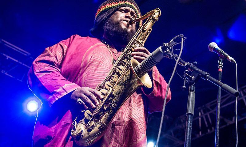 Kamasi Washington, band leader and head saxophonist. Photo: ColtonMarsalaPhotography.com