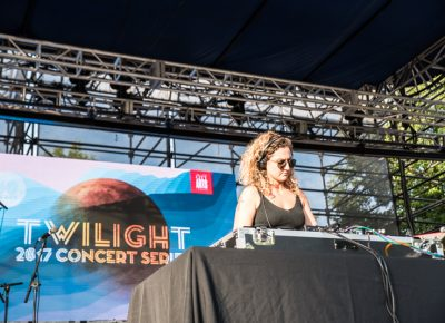 CHOiCE opened up the night at the Twilight Concert Series. Photo: Gilbert Cisneros
