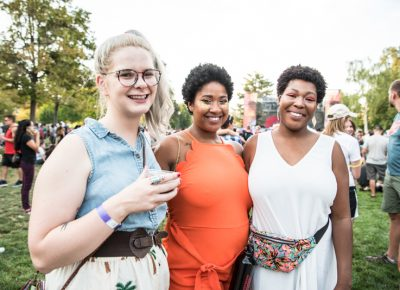 Emily, Keli and Ashley were eager to see Solange. Photo: Gilbert Cisneros