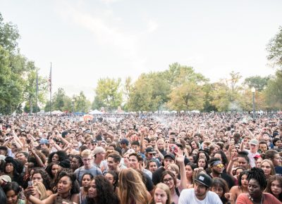Kaytranada had the crowd moving. Photo: Gilbert Cisneros