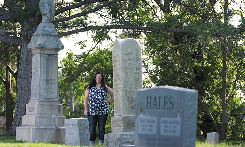 Jennifer Jones researches and publishes the history of paranormal legends via The Dead History, locally and beyond. Photo: @_chriskiernan_