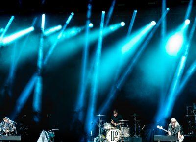 PVRIS playing onstage at USANA amphitheater. Photo: Lmsorenson.net