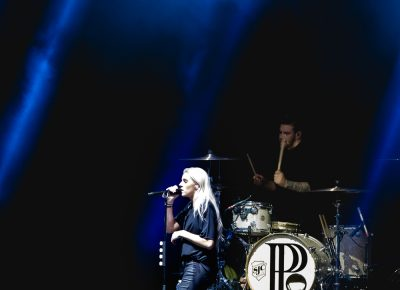 Musical group PVRIS supporting Muse at USANA. Photo: Lmsorenson.net