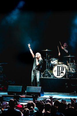 Ending their tour in SLC, PVRIS playing onstage at USANA Amphitheater. Photo: Lmsorenson.net