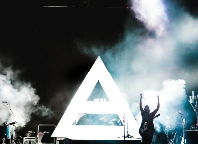 As light is added, Thirty Seconds to Mars members begin to make their way. Photo: Lmsorenson.net