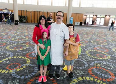 The Griffiths family cosplaying together as the characters of Bob's Burgers. Photo: Lmsorenson.net