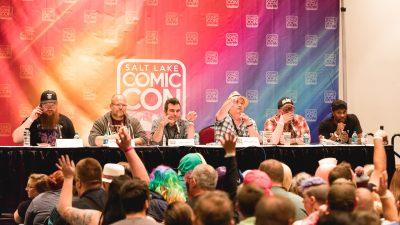 The Geek Show Podcast recording live at Salt Lake Comic Con. Photo: Lmsorenson.net