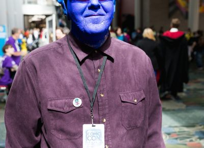 Cosplayer Brian with his Nightcrawler, heading back from the vendor floor. Photo: Lmsorenson.net