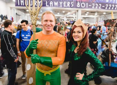 Jared and Maren with some sweet Aquaman cosplay. Photo: Lmsorenson.net