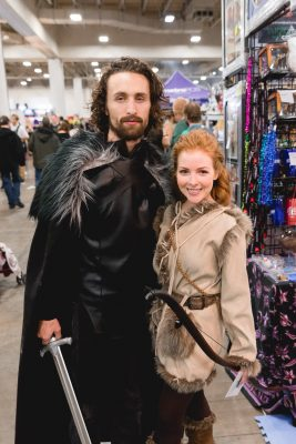 Taylor and Chelyse cosplaying as fan favorites Jon Snow and Ygritte. Photo: Lmsorenson.net