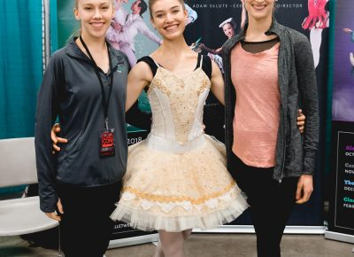Ballet West offering tickets and information on upcoming productions. Pictured: Kaelyn, Hannah and Nikki. Photo: Lmsorenson.net