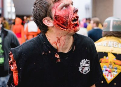 Tristan remains in character as he makes his way through the hallways inside Salt Lake Comic Con. Photo: Lmsorenson.net