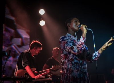 Szjerdene sings vocals whole Bonobo works his magic. Photo: ColtonMarsalaPhotography.com